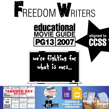 Freedom Writers Movie Guide | Questions | Worksheet (PG13 - 2007) Cover