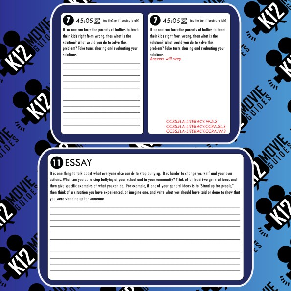 Bully Movie (Documentary) Guide | Questions | Worksheet (PG13 - 2011) Free Sample