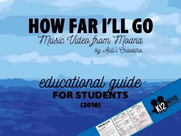 How Far I'll Go Music Video Lesson Plan