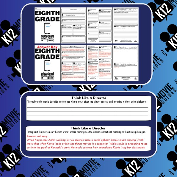 Eighth Grade Movie Guide | Questions | Worksheet (R - 2018) Sample