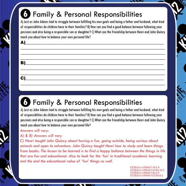 Liberty's Kids - Honor and Compromise (E26) - Movie Guide   Worksheet Free Sample