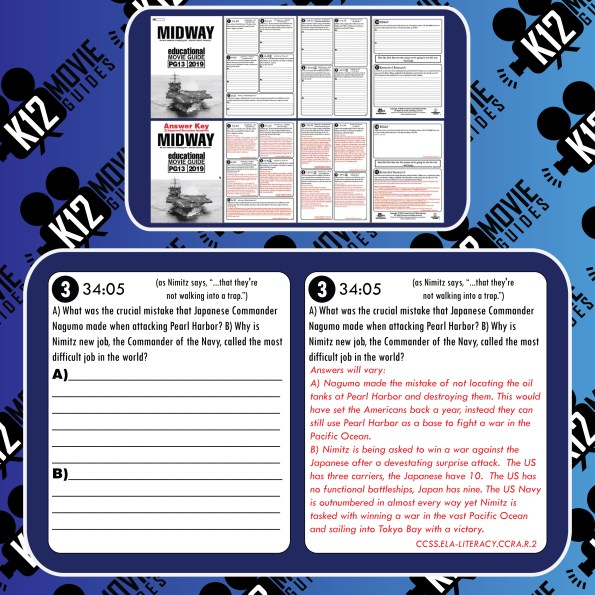 Midway Movie Guide | Questions | Worksheet (PG13 - 2019) Free Questions