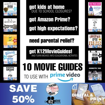 Amazon Prime Bundle of 10 Movie Guides for Corona Virus School Closures Cover