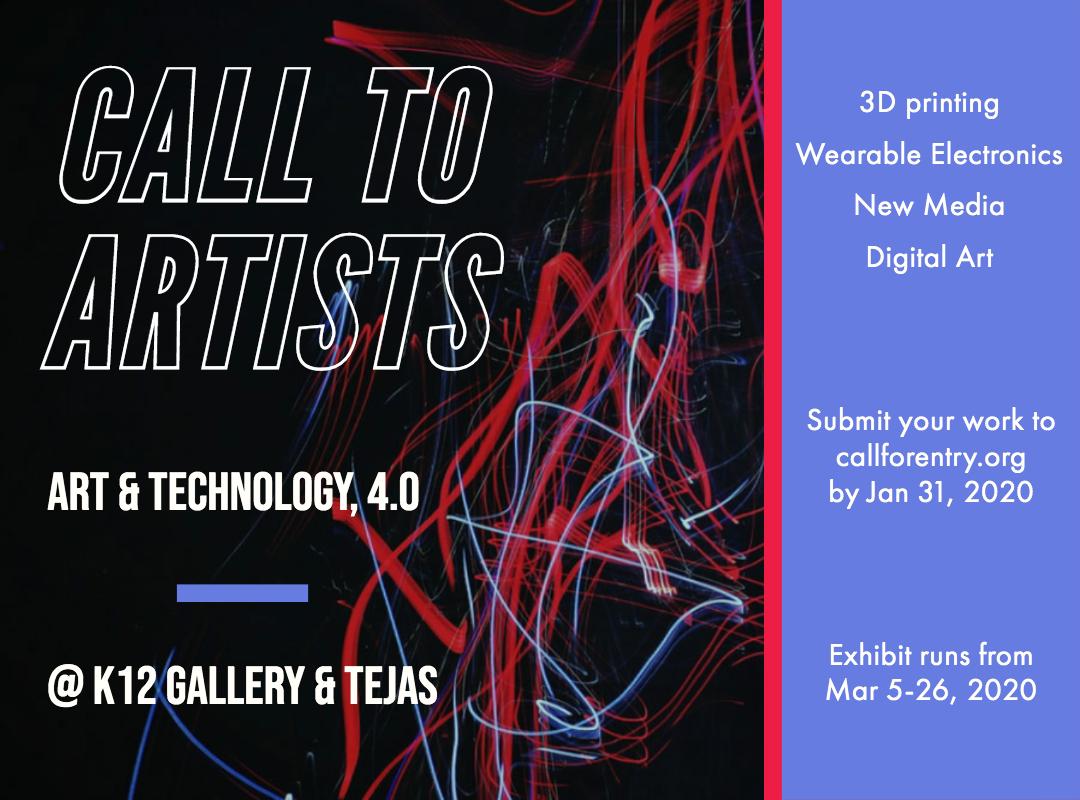 Call to Artists Art & Technology 4.0