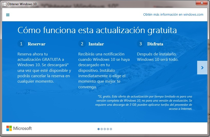 "Eliminar aviso de ""Obtener Windows 10"""