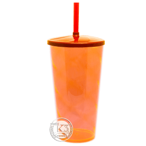 Copo Twister c/ Tampa-Laranja Neon