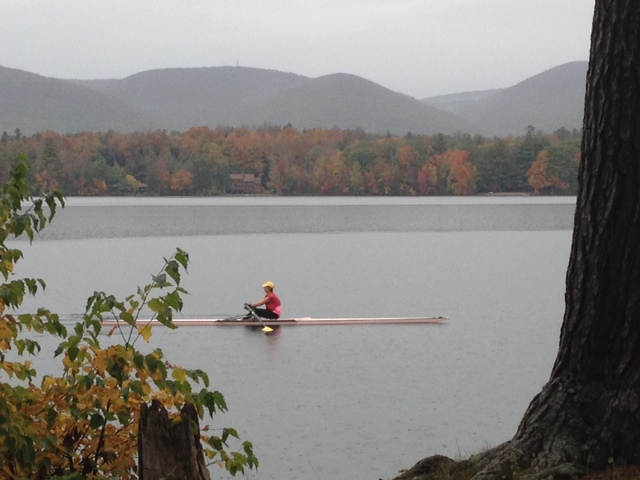 Autumn Rowing on Onota Lake