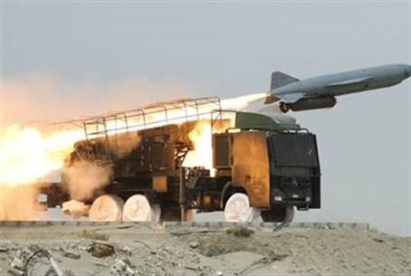 Iran's Revolutionary Guards fire a Saegheh missile (illustration