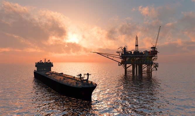 Oil tanker and rig