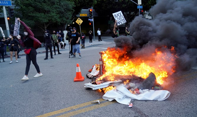 Riots in Los Angeles, California