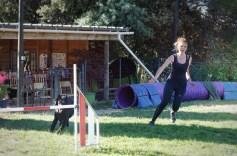 Sarah avec le chien de Martine !
