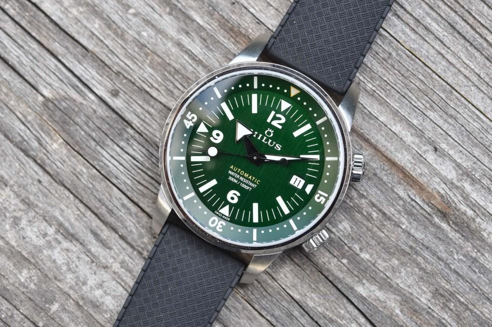 Milus Archimedes Wild Green compressor dive watch