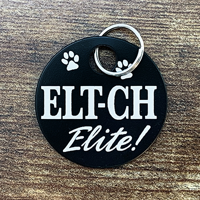 ELT-CH Elite - BLACK Bag Tag