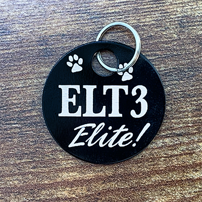 ELT3 Elite - BLACK Brag Tag