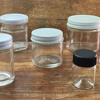 6 Glass Jars for Scented Q's