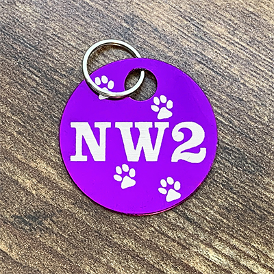 NW2 - PURPLE Brag Tag