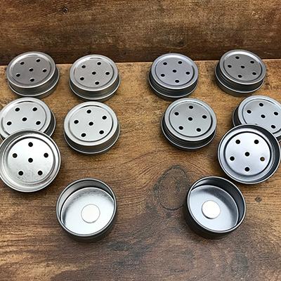 1/2 oz Screwtop Tins in Regular or Rust Resistant Finish