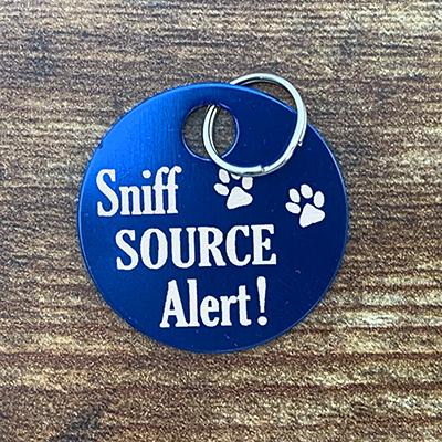 Sniff Source Alert BLUE Brag Tag