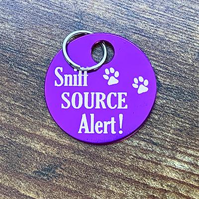 Sniff Source Alert PURPLE Brag Tag