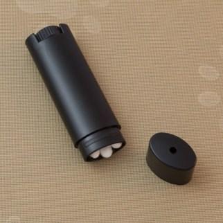 Black - Oval Lip Balm Tube