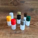Mini Lip Balm Clear Base with 8 Colored Caps