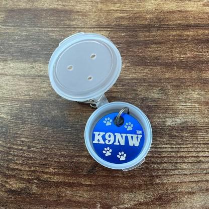 Hanukkah Gift-White Clip On w- Blue K9NW Brag Tag