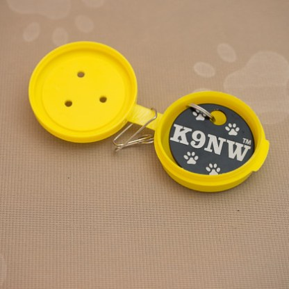 Yellow Clip-On with Brag Tag inside