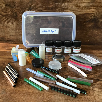 AKC Style Judges Kit -Empty Jars