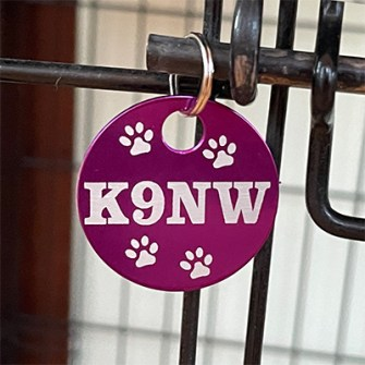 K9NW-Purple-Brag-Tag-on-Cage