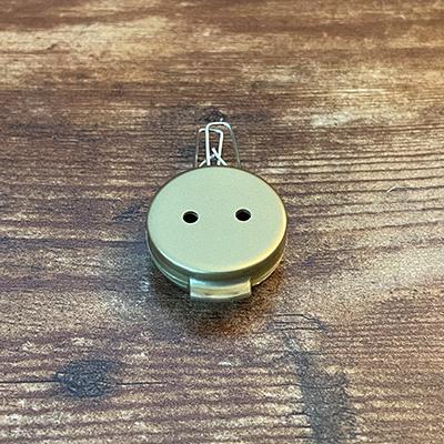 Mini Plastic GOLD Disk with Clip