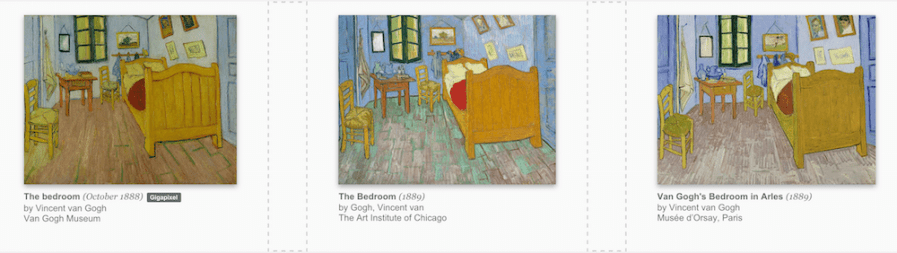 Images of Van Gogh's Bedroom from the Google Art Project