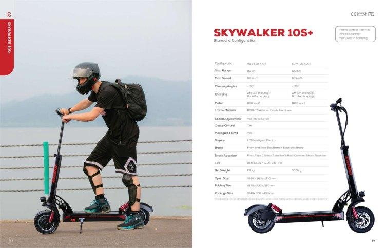skywalker 10s specs
