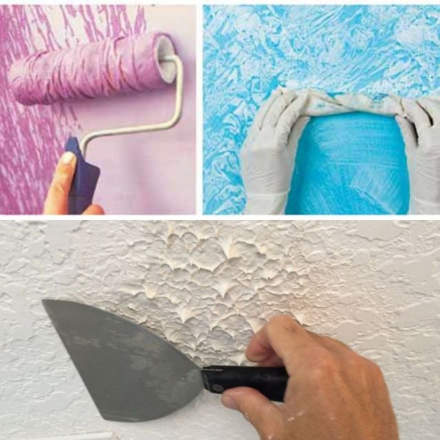 Stippling in interior wall painting