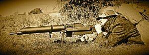 MG 08/15 i brug (Modelfoto v. Westfront 1916)