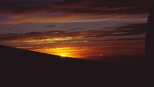 Soloppgang i 5000 meters høyde, Bolivia. Foto: Hans Jakob Rogstad.