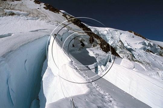 Kryssing av Linda Glacier, New Zealand. Foto: Endre Før Gjermundsen.