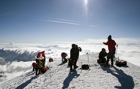 På Mont Blanc, 4808 moh