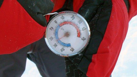 Kjølig med -26 grader celcius.