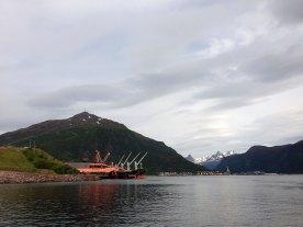Framnesodden og LKABs bulkhavn.