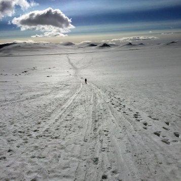 På vei opp Steindalen fra veien over Valdresflye.