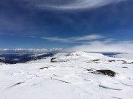 Utsikt mot Rasletinden (2105 moh.) fra Kalvehøgde Ø2 (2088 moh.).