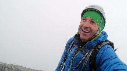 En fornøyd Michael Just Hansen nærmer seg toppen.