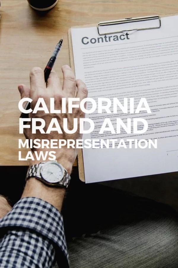 California misrepresentation fraud lawyer