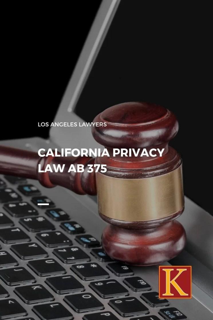 California Privacy Law AB 375