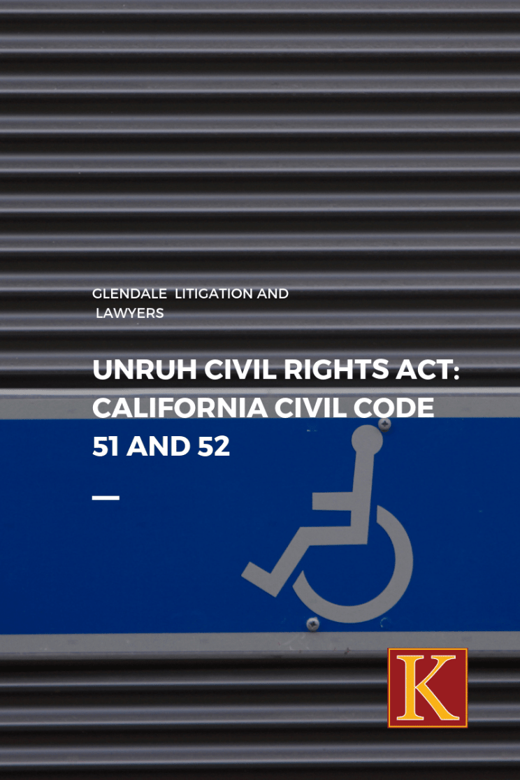 UNRUH CIVIL RIGHTS ACT CIVIL CODE 51