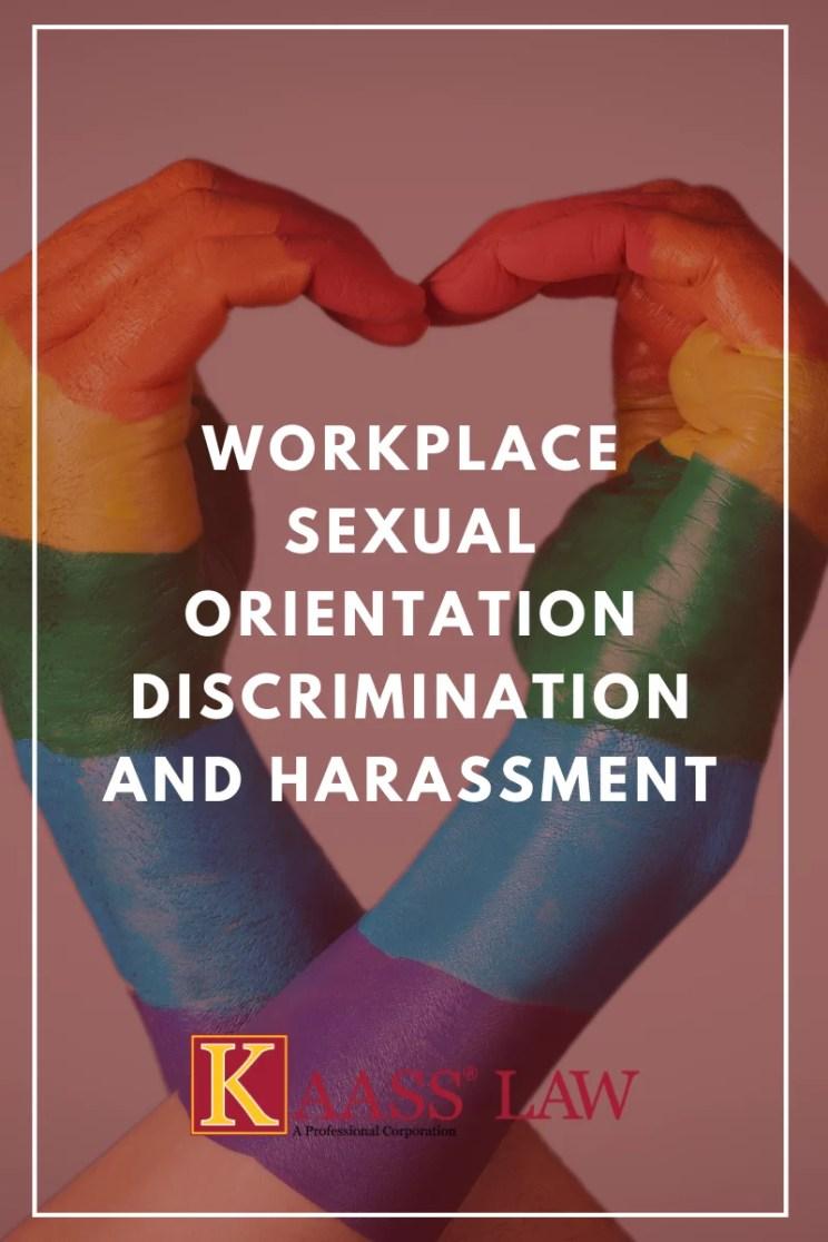 Workplace Sexual Orientation Discrimination Harassment