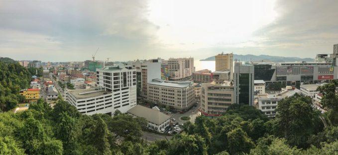 Uitzicht Kota Kinabalu Sabah Borneo
