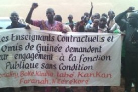 Kankan: Après l'engagement d'une frange, les contractuels de l''Etat ne sont pas satisfaits!