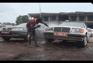 Labé: la saison sèche frappe les stations de lavages d'engins roulants