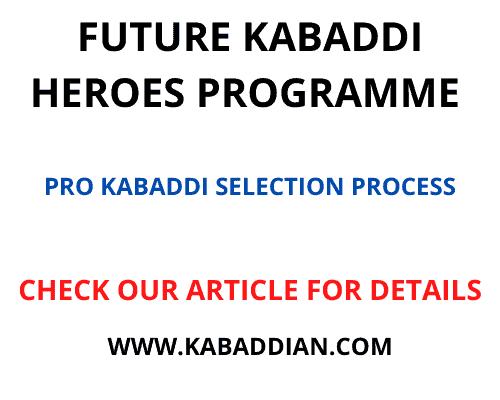 future kabaddi heroes programme 2021